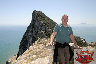 Gibraltar with a view of Africa over my left shoulder.  4/8/2011