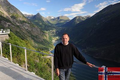 Overlooking Geiranger fjord.  July 27, 2010