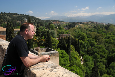 Looking out from the Alcazaba.  Alhambra in Granada Spain.  April 2011