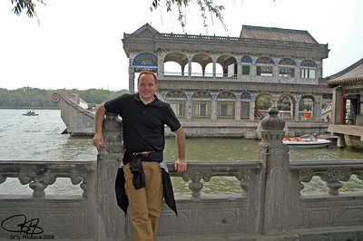 Me by the Marble Boat (where I had also been in 1980), Summer Palace, Beijing 2007