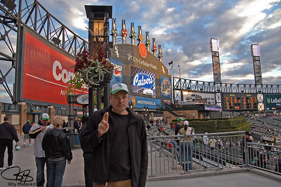 A Twins fan in hostile territory.  9/14/07