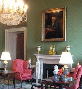 The Green Room--portrait of Benjamin Franklin.