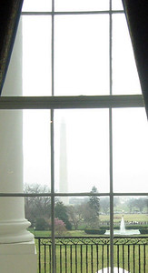 View of the Washington Monument from the Red Room.