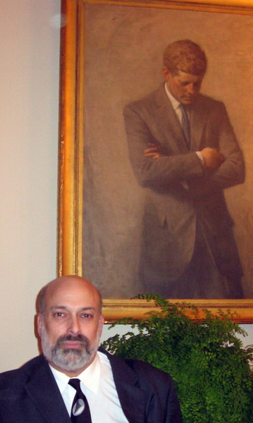 Me--and President Kennedy!  (Outside the State Dining Room)