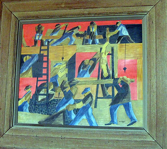 Painting by Jacob Lawrence in the Green Room.
