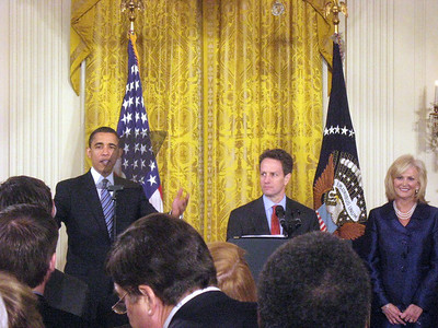 And the program begins.  Treasury Secretary Geithner begins the program.