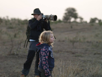 Me and my daughter Matilda in Kruger National Park, RSA. Photo: Sofia Skoglund