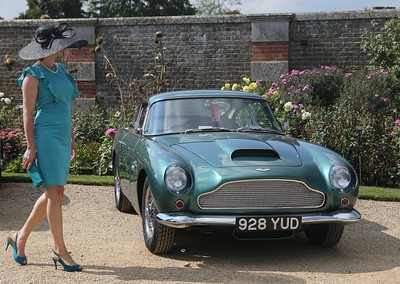 Aston Martin and elegant lady - Hampton Court.