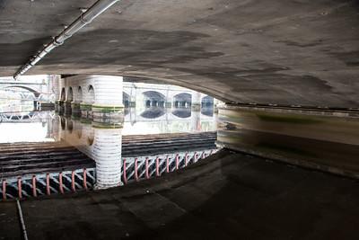 Under the bridge reflections