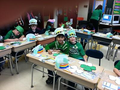 Sanskar Shah, Connor Naumann, St. Patrick's Day Fun, Gr. 2