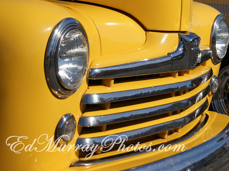 Chrome Yellow: Happy Monday! I hope everyone had a good weekend! Above a the nose of an old Ford that I happened across some time ago. I completely forgot about this shot until I found an old SD card lying around!