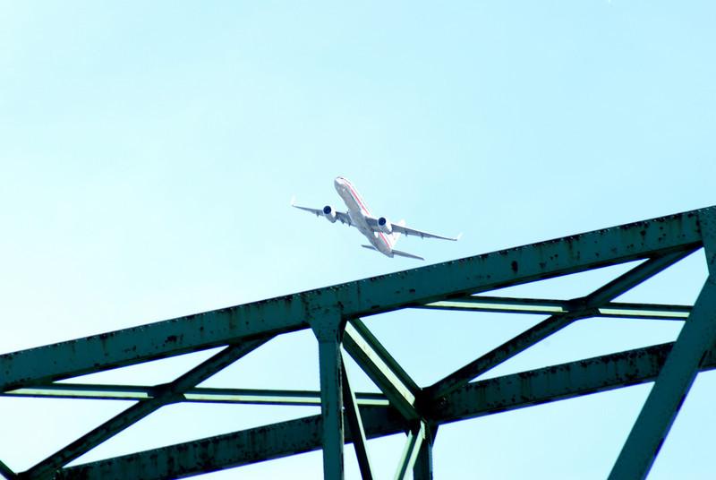 Rusty bridge fly over