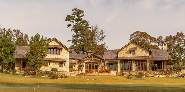 Back at Whispering Pines---a view of the Clubhouse from the 10th tee