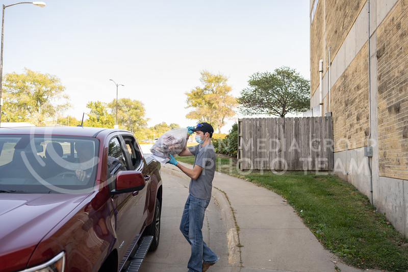 Kansas State University Meat Lab Sale located at 166 Weber Hall. All sales will be curbside service as they continue to service in the most safe and effective way as possible. Friday, September 25, 2020. (Dylan Connell | Collegian Media Group)