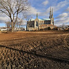 What the Mechanic Street Park in Leominster on the corner of Laurel Street and mechanic Street looks like with Saint Cecilia Church in the background on Wednesday, January 10, 2019. SENTINEL & ENTERPRISE/JOHN LOVE