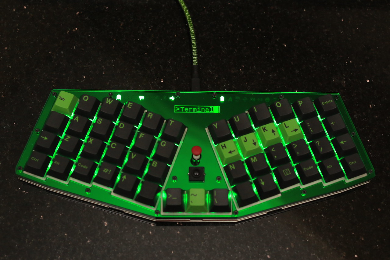 And this is GMK Terminal with a matching faceplate.