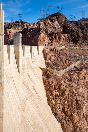The Face of Hoover Dam, Boulder Canyon, Nevada