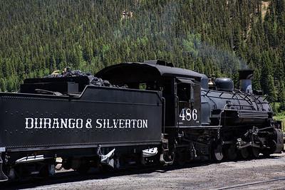 Locomotive and Coal Car, Historic Durango and Silverton Narrow Gauge Railroad, Silverton Station, Colorado