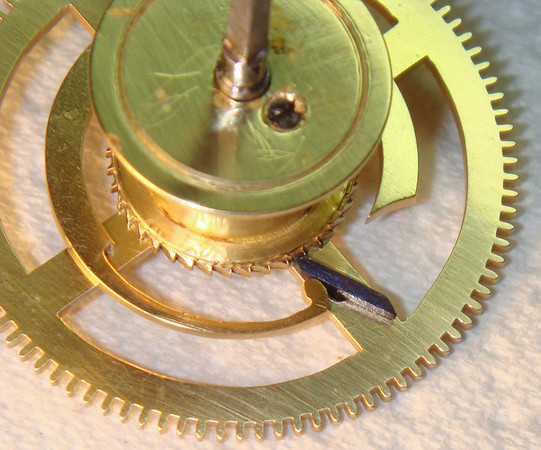 I am often amazed at the exquisite detail that one finds in these mechanisms - check out the end of the clock spring!