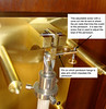 Details of the pendulum suspension and crutch connection