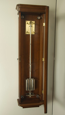 Inside of case showing pendulum details