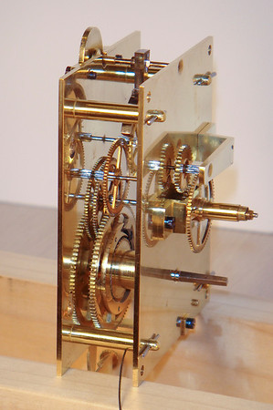 Side of mechanism showing exquisite gears!