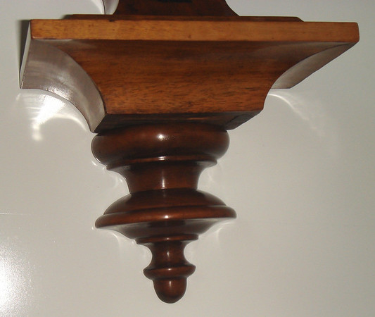 As part of the restoration we made a new bottom finial.