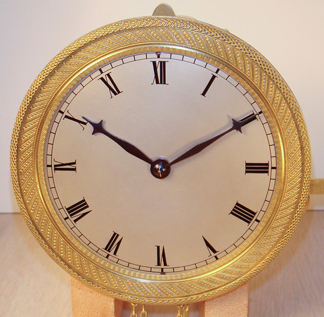 """The dial on this early timepiece was in terrible condition, as can be seen in the before shot (on the next page of this gallery).  After cleaning and resilvering the dial I sent it off to Philip Wilson ( <a href=""""http://www.wilsonclocks.com"""">http://www.wilsonclocks.com</a>)  for renumbering.  As you can clearly see - he did fantastic work."""