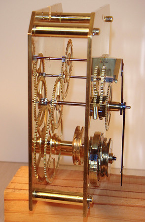 Side view of mechanism - note the clipped corners to the top of the plates.  Such an beautiful and simple mechanism!
