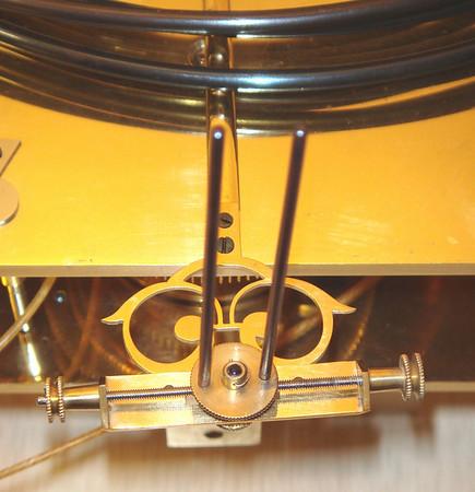 Pendulum Crutch - with two pins to go around pendulum rod
