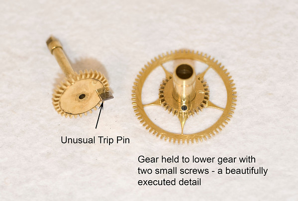 Unusual hour and minute gear features