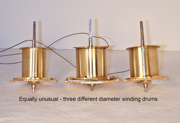 Note the different diameters of the winding drums!