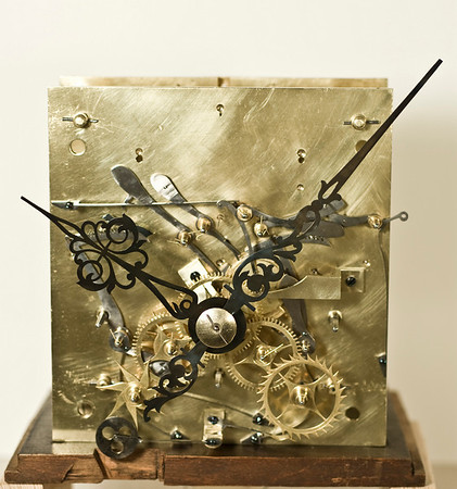Front of mechanism - note the extra gears for the dial complications