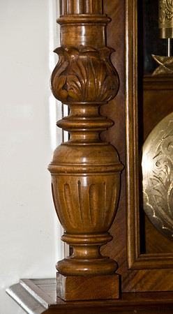 Another example of the very fine carving found on this clocks case