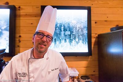 Carl Murray, the chef of Restaurant de Moulin