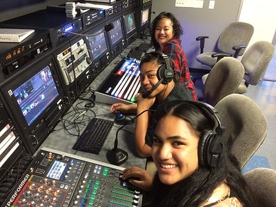 Youth in Studio Control Room