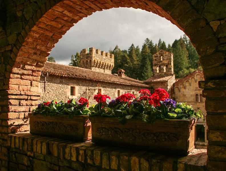 Castello di Amorosa, Upper Loggia (Jim Sullivan)