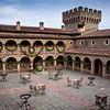 Castello di Amorosa, Courtyard Holiday (Alison Cochrane)