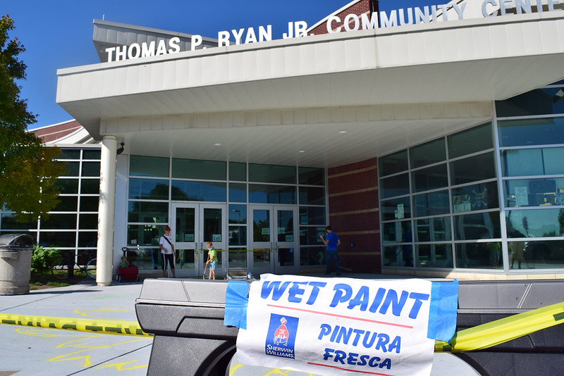 A Story Walk was painted outside of Sully Branch Library and the Thomas Ryan Community Center.