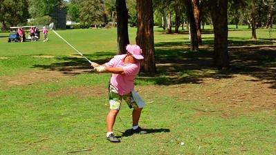 Mei McCormick in action during the Breast Cancer Institute Charity Golf Day at Leonay GC Nepean News 8th November, 2018