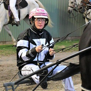 Isobel Ross drove #10 Triple VC NZ to win the Asahi Lady Drivers Pace at Penrith Paceway on 1st April, 2021 Nepean News 16th April, 2021