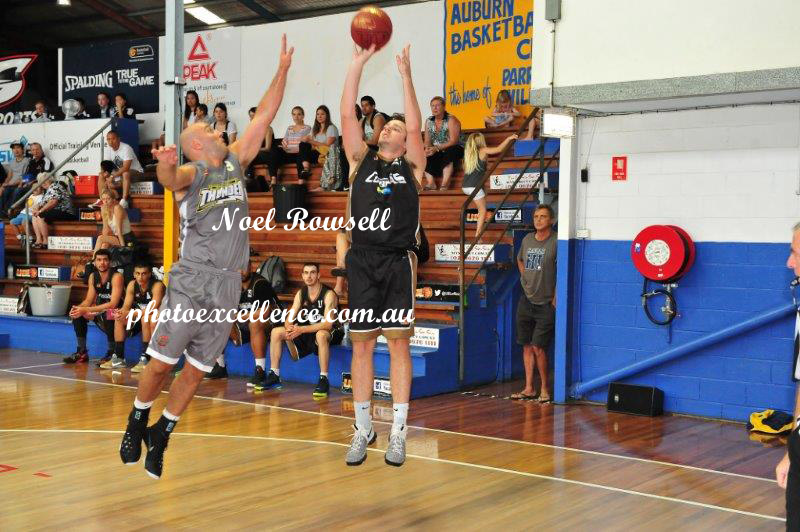 Rob Meyrick (Cobras) in action during the grand final of the 2016/17 Dooley's Ultimate Basketball League (UBL) competition.<br /> Parramatta Sun (on-line edition)<br /> 22nd February, 2017