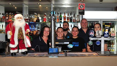 Staff of the Pioneer Tavern, Penrith with the U.G.L.Y. Trophy (Raylene, Tara, Tim, Bec, Trent, Sally) FRONT PAGE FEATURE - Nepean News 6th December, 2018
