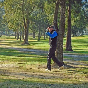 Bob Chruszcz (Leonay GC) in action at the 2019 WSRVGA Inter-Club at Richmond GC in July. Australian Senior Golfer 26th July, 2019