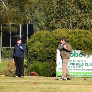 James Lazarus & Wayne Beesley (Dunheved GC) in action during the WSRVGA Inter-Club at Richmond GC in July. Western News 2nd August, 2019
