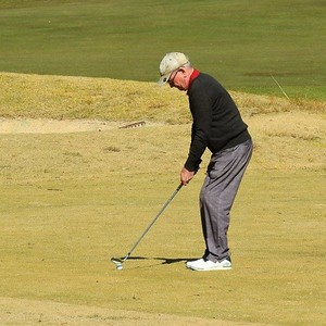 David Murphy (Twin Creeks CC) in action during Round One of 2019 NSW Super Seniors Pennants Australian Senior Golfer 13th August, 2019