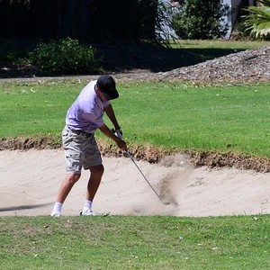 Steve Pegler (Stonecutters Ridge GC) in action at Leonay GC in the final round of the 2019 WSRVGA Inter-Club Competition Western News 8th November, 2019