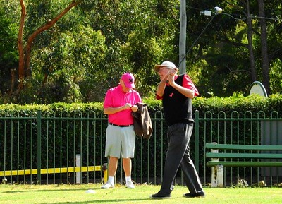 Les Knox on the 17th tee at Leonay GC Legend of the Nepean column, Nepean News 2nd August, 2018