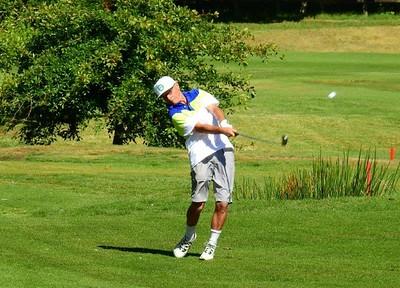 Mick McCormick (Leonay GC) in action at Blackheath GC during the 2018 Blue Mountains VGA Week of Golf Australian Senior Golfer 14th February, 2019