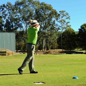 Chris Sharpe (Richmond GC) at Glenmore HVGC during the WSRVGA Inter-Club event. Australian Senior Golfer 25th June, 2019